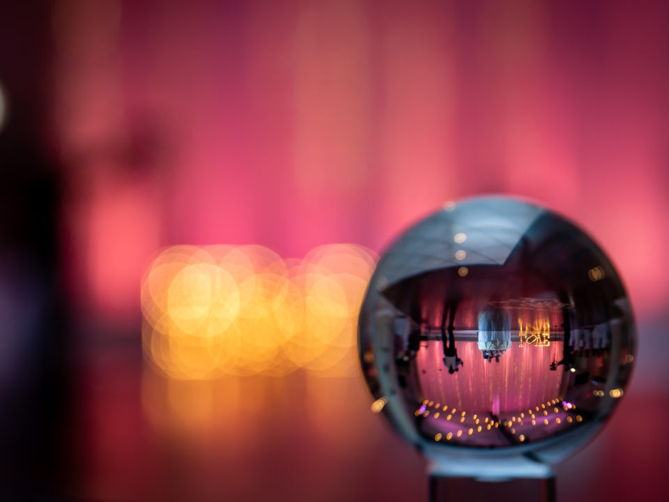 las vegas wedding photographer lens ball